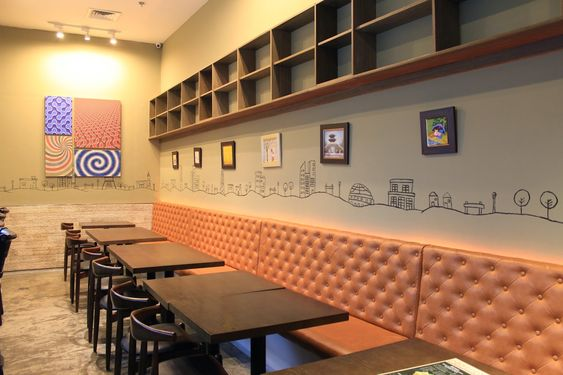 red table korean fast casual restaurant interior restaurant concepts pinterest restaurant design and interiors