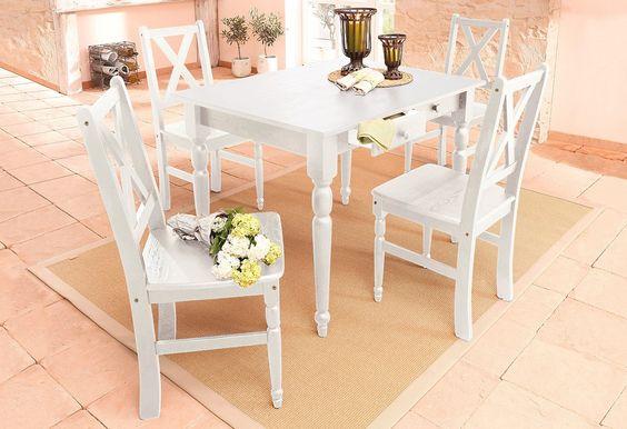 Details Tische:  1,9 cm starke Tischplatte, 2 - 3 Schubkästen, Innenmaße (B/T/H): 25/35/7 cm, In verschiedenen Größen, In verschiedenen Farben, rechteckige Tischplatte, Tischplatte fest montiert,  Details Stühle:  40 cm Sitzhöhe, 42 cm Sitztiefe,  Maße Tisch:  1,9 cm starke Tischplatte, 63 cm bis zu Tischzarge, Schubkasteninnenmaße (B/T/H): 25/35/7 cm, Alles ca.-Maße,  Maße Stühle:  (B/T/H) c...