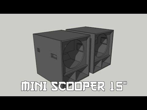Box Mini Scoop 15 Inch Box Speaker 15 Inch Subwoofer Box Design 15 Youtube Di 2020 Desain Speaker