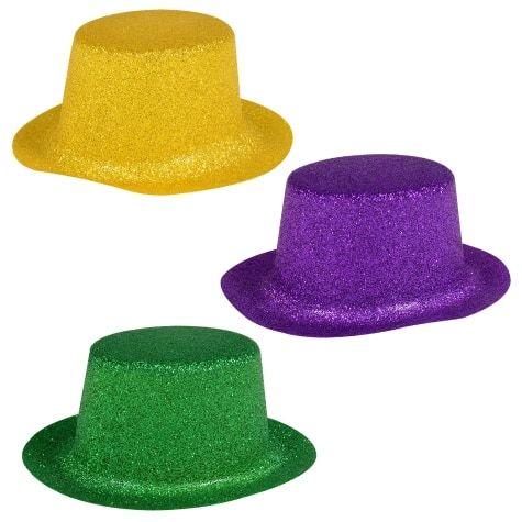 Glittery Plastic Mini Mardi Gras Party Hats 5 Ct Packs At Dollar Tree Affiliate Mardi Gras Party Party Hats Mardi Gras