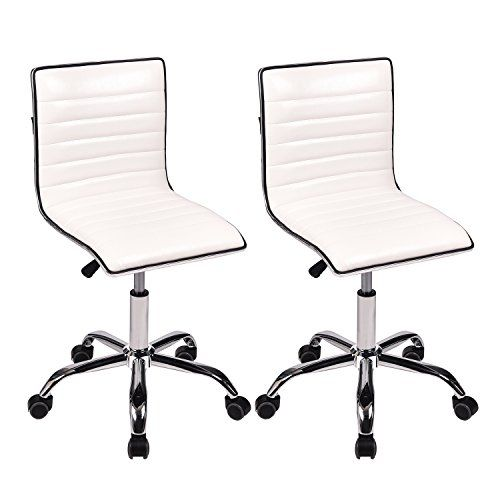 Artethys Desk Chair Swivel Home Office Task Chair Set Of 2 Mid Back Support Ribbed Design Height Task Chair Office Chair Mesh Office Chair