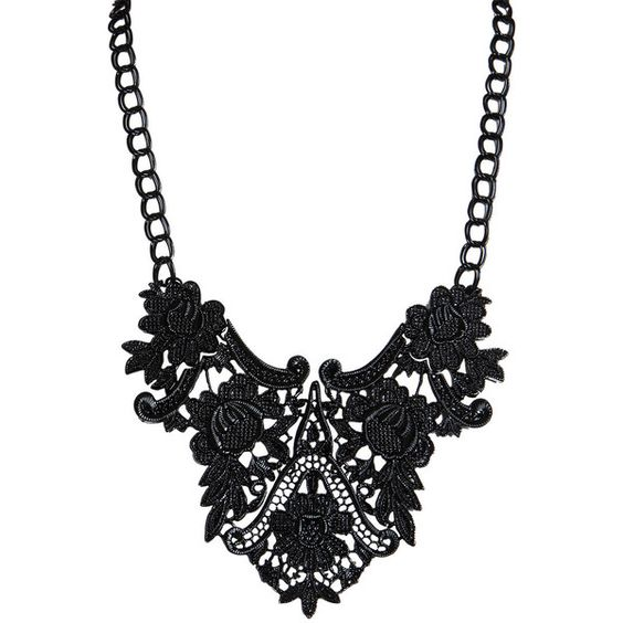 Gwen Lace Effect Necklace ($30) found on Polyvore