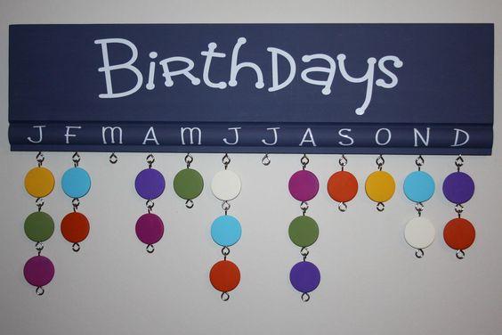 Blue birthday board