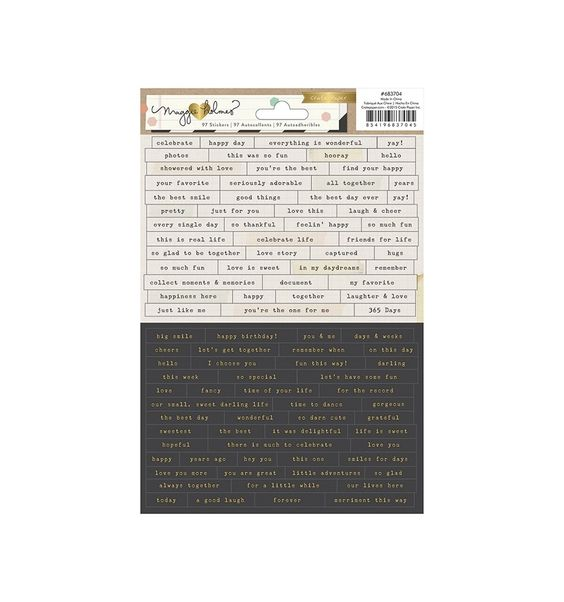 Pegatinas Confetti Tiny Phrases - Kimidori