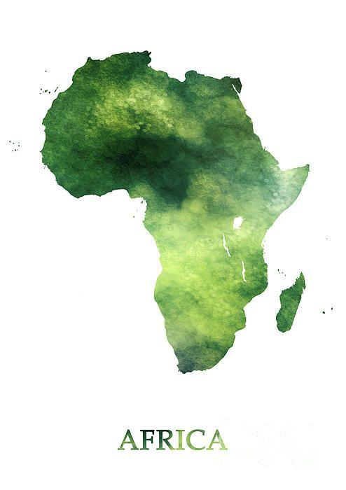 Africa   Green Forest Art Map | Wish | Forest art, Map art, Art
