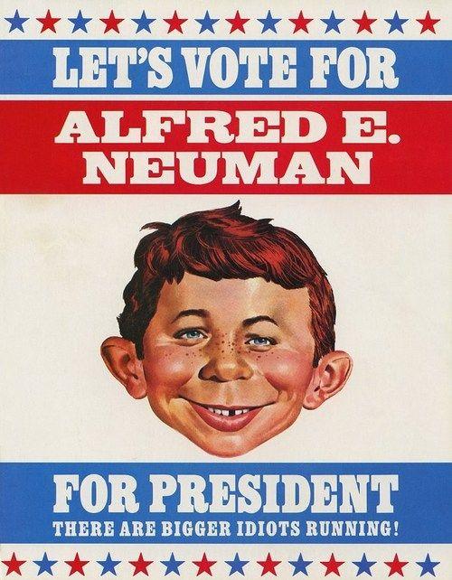 Image result for alfred e neuman for president
