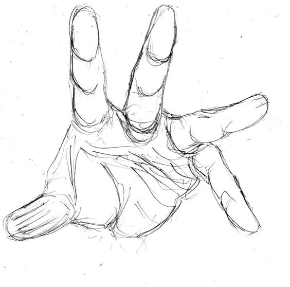 Pics for hands reaching out drawing things to draw for Easy hand drawings