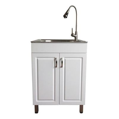 Shop Westinghouse Laundry Sink With Cabinet At Lowe S Canada Find Our Selection Of Laundry Tubs Faucets At The Lowest Price Guaranteed Laundry Cabinets Laundry Tubs Renovation Hardware