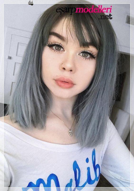 Koyu Gri Sac Modelleri 2019 Rengarenk Sac Kahkul Sac Ve Sahne Saci