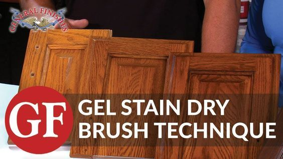 How To Gel Stain Kitchen Cabinets Using Dry Brush Technique Youtube Gel Stain Kitchen Cabinets Stained Kitchen Cabinets Gel Stain