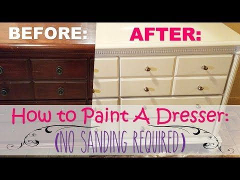 How To Repaint Furniture No Sanding Req Step By Step Instructions Youtube Repainting Furniture Refinishing Furniture Diy Repaint Wood Furniture