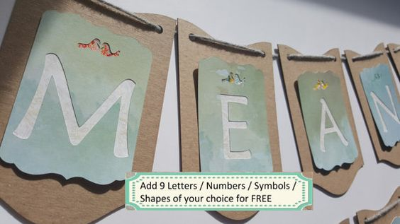Wedding Banner / Wedding Decor Rustic / Meant by ClairPaperCrafts