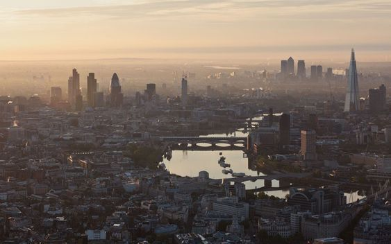 Dawn over London.  Picture: High Level Photography / Rex Features