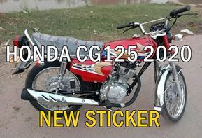 Honda Unveils New Sticker On Honda Cg 125 2020 Model
