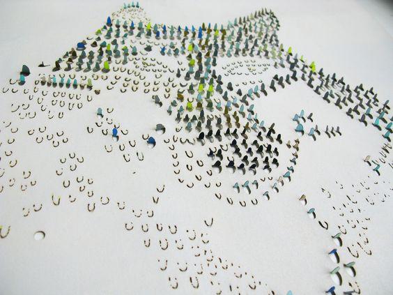 Dana Haim's wallpaper that uses traditional lace characteristics