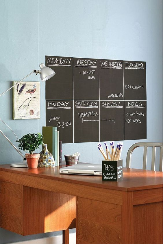 Chalkboard paint is an easy way to stay organized or spruce up your room.
