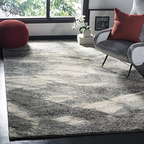 Safavieh Retro Collection Ret28918012 Modern Abstract Grey And Ivory Area Rug 10 X 14 Amazon Best Buy Handmadede With Images Retro Home Decor Retro Rugs Area Rugs