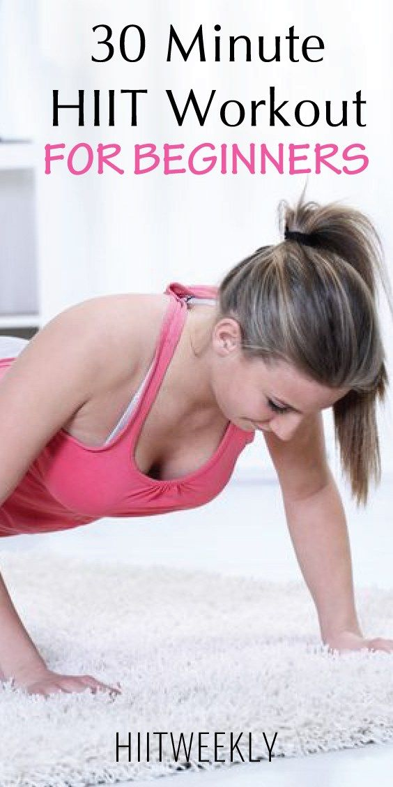 This 30 minute equipment free home HIIT workout is great for beginners. It consists of 3 circuits of two rounds each. Each circuit consists of 4-6 exercises.