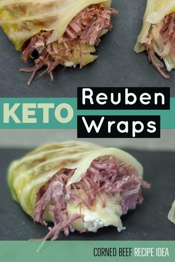 Keto Reuben Wraps