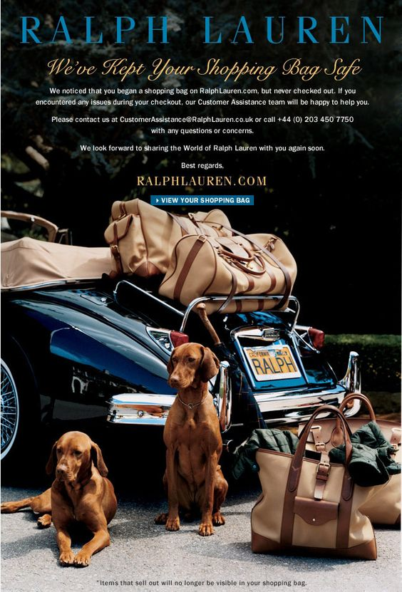 Abandoned Cart Email Template - Ralph Lauren