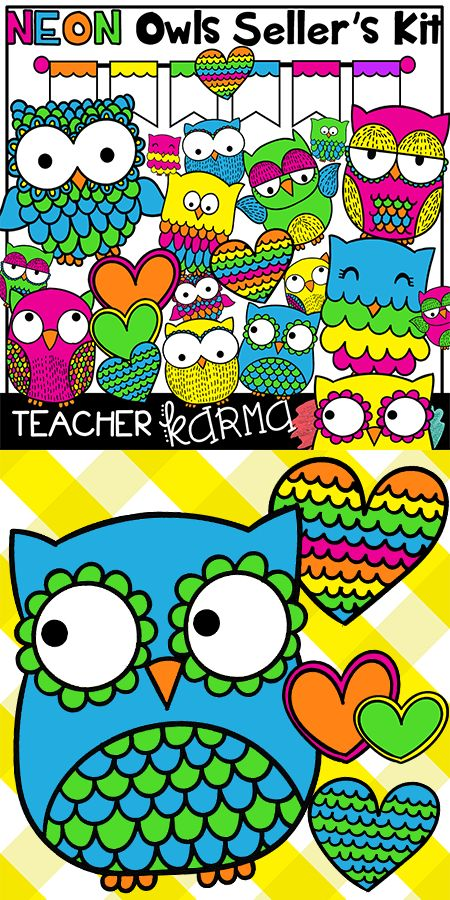 Reading Owls & Books Clipart * Classroom Kit * BUNDLE | Paper, Owl ...
