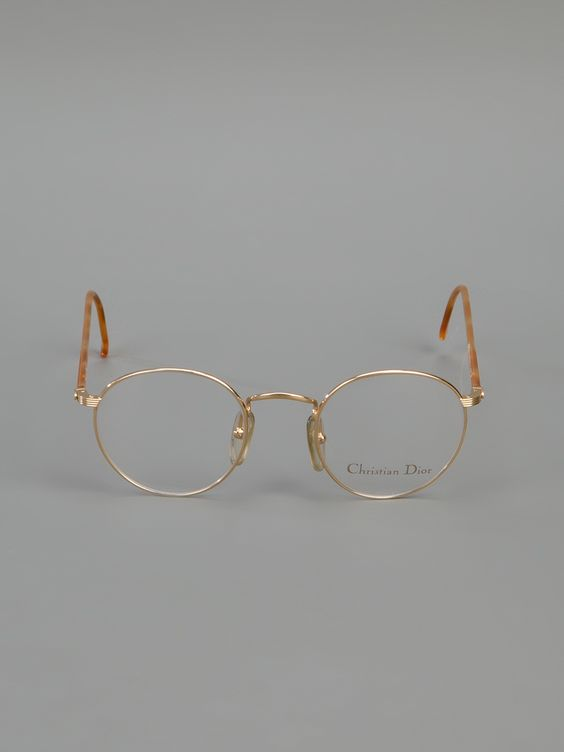 CHRISTIAN DIOR VINTAGE round frame glasses:
