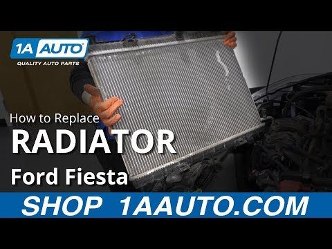 How To Replace Radiator 2011 2017 Ford Fiesta Youtube Ford Fiesta Radiators Ford
