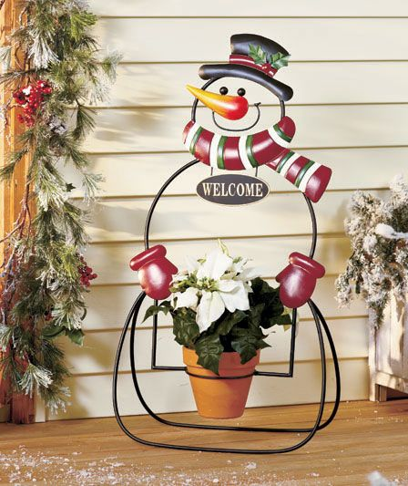 Holiday Plant Holders The Lakeside Collection Snowmen