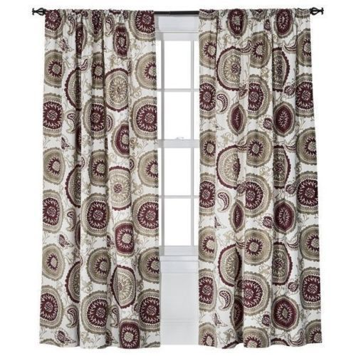 Curtains Ideas 54 curtain panels : SET 4 Threshold Target Red Farrah Medallion Curtain Panels 54