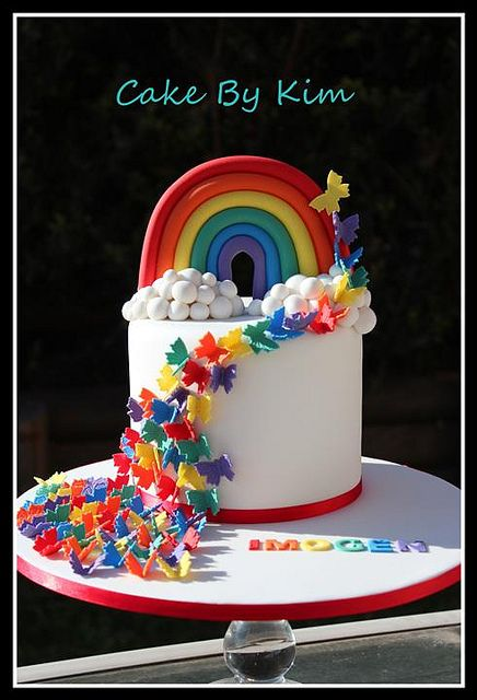 rainbow cake on birthday cakes with rainbow