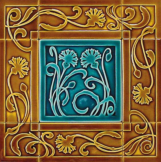 Pinterest the world s catalog of ideas for Art nouveau tile mural