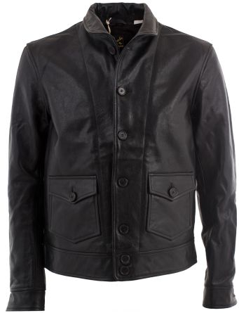 The quintessential black leather jacket taken straight from Levi's archives.100% thick and supple leatherInterior body lined in cotton drill; arms in cupra for easy entry/exitGenuine horn buttonsHefty nickel side buckles for adjustable fitNickel...