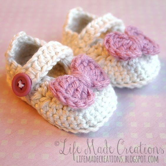 Life Made Creations: crochet : baby booties | Crochet baby ...