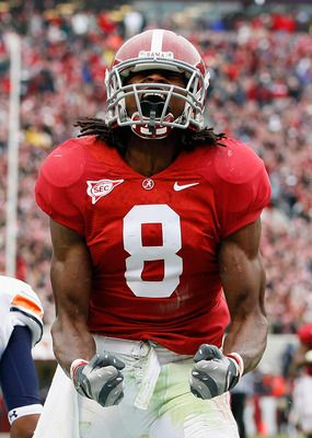 Julio Jones,WR; First freshman to ever start opening day; All American; 2009 National Championship team; drafted by Atlanta Falcon in first 10; #26 of Tide's top 50