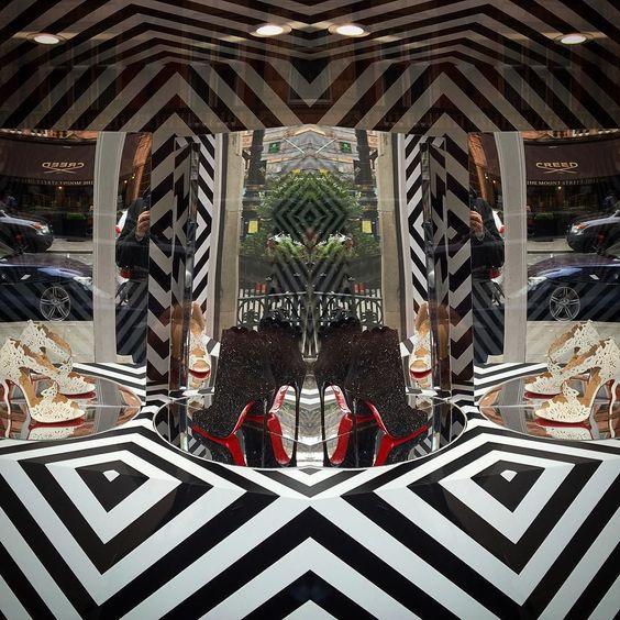 Lots of Christian Louboutin shoes/heels in Mayfair London @louboutinworld