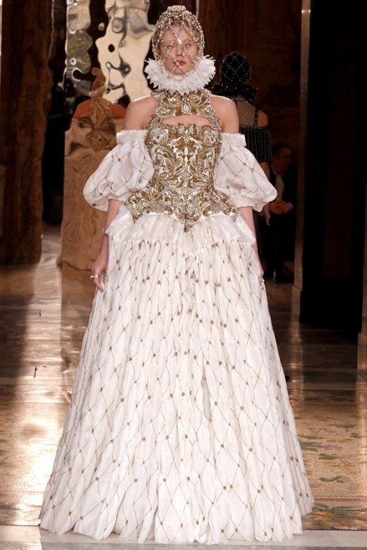 Modern Renaissance fashion by Alexander McQueen.