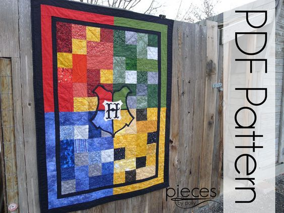 Harry #Potter Hogwarts #4-House Quilt - PDF #Pattern Quilt #Pattern - Early Releas,  View more on the LINK: http://www.zeppy.io/product/gb/3/239031348/