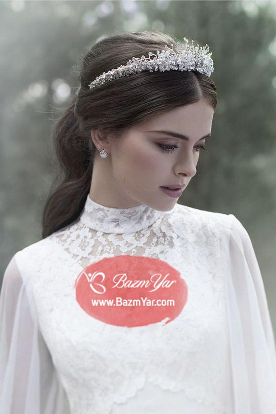 تاج عروس طرح پیچک گل دار Wedding Dresses Wedding Hairstyles