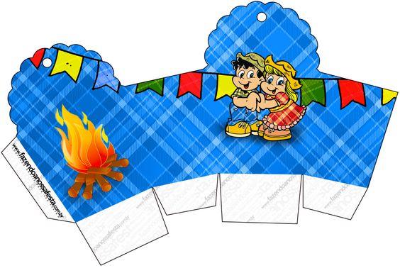 Caixa Cupcake Festa Junina::