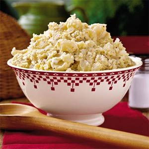 Fipps Family Potato Salad  Round out your meal with this classic mixture of potatoes, eggs, mayo (Duke's of course!), and spicy mustard. Make the recipe your own by adding sweet pickles, onion, celery, bacon, and fresh herbs.