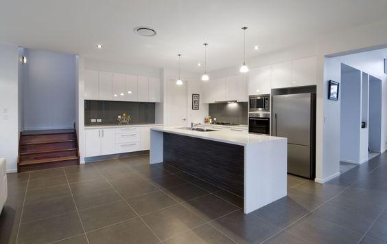 Modern Suspended Ceiling Apartment Kitchen Interior Decorating - k amp uuml chen luxus design