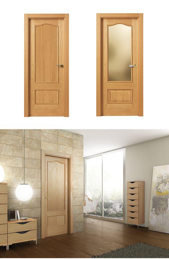 Puerta de interior clara modelo chelo de la serie lisa for Modelos de puertas de madera