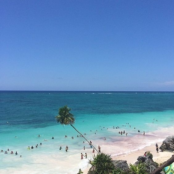The beauty of Tulum, Mexico. #beach: