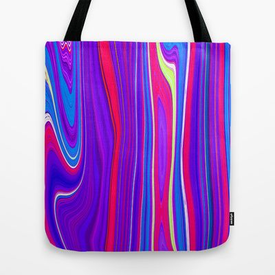 Twiggy Stripes cv3 Tote Bag by Paul Ashby - $22.00