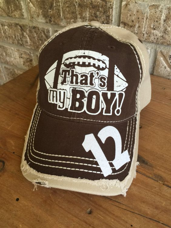 Customized Football Mom Cap That's My Boy Fun by MamaGlitter