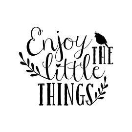 Enjoy the little things. Zwart wit kaarten bestel je met KaartWereld.