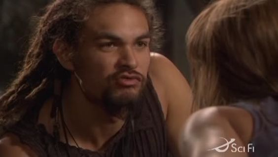 Jason Momoa - Puckers up on Stargate