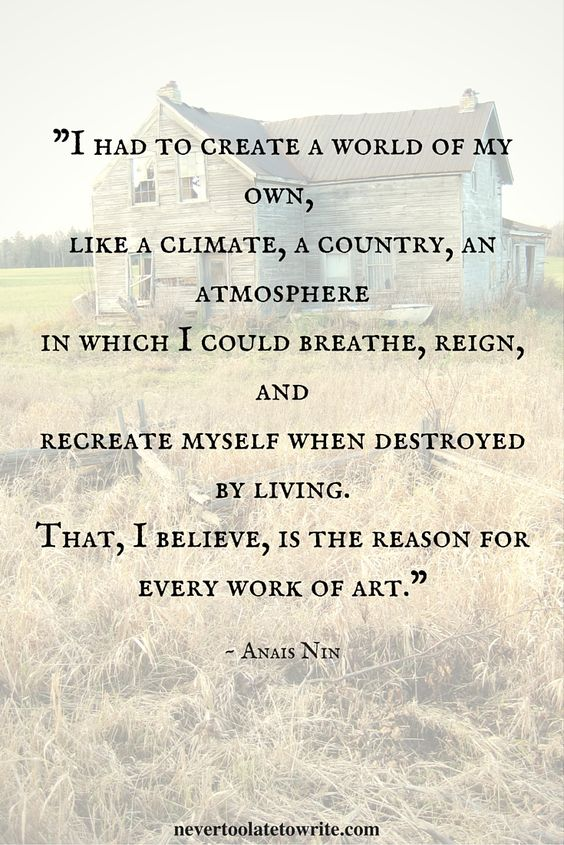 Anais Nin - Why I Write #quotes #writing