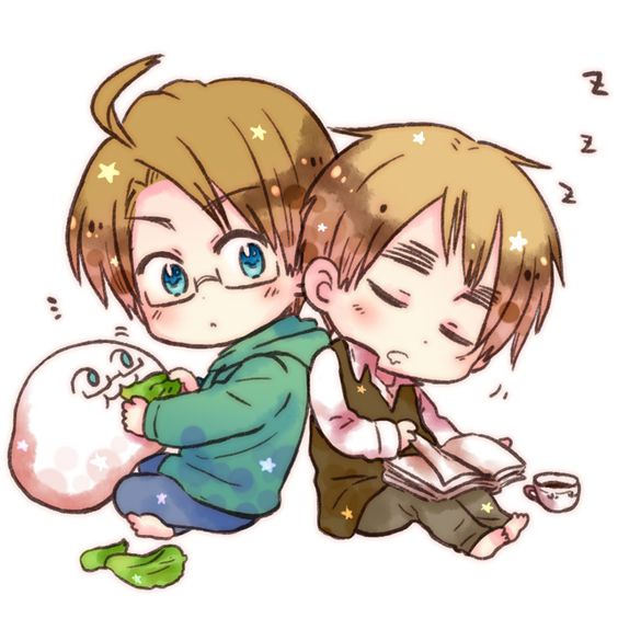 Hetalia cute England and America chibi's with america ...