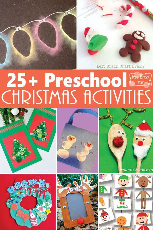 25+ Preschool Christmas Crafts and Activities: